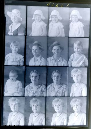 "Digital ""contact print"" - Stamp photo grid - negative #13937"