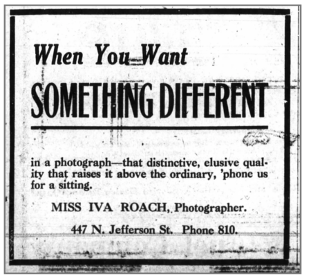 "Ad for the Roach Studio, ""When you want something different"", Huntington Herald, September 28, 1918"