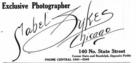 1918 Chicago Directory, Mabel Sykes ad