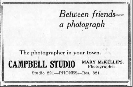 Mary McKellips now working in Concordia, Kansas (ad in the Concordia Blade Empire paper 09/24/1919.)