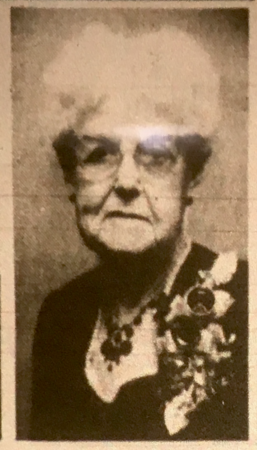 Feb 1, 1969, Photo of Mary B. Snodgrass from her obituary in the Caldwell Times