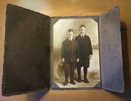 Photo in a folder with Flaps, Roche Studio in Blue Rapids Roche Studio-2 boys detail (McIntyre-Culy collection)