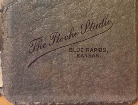 The Roche Studio Stamp (on outside of folder flap) - (McIntyre-Culy collection)