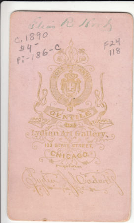 Back of CDV by Lydia Cadwell (date unknown; Courtesy McIntyre-Culy collection)
