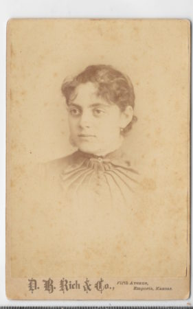 Photo of Minnie Walkup by D. B. Rich (courtesy Lyon County Historical Society)