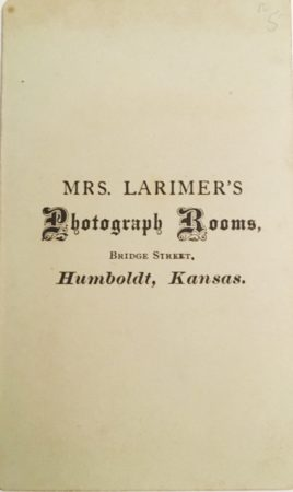 Back of CDV by Mrs. Larimer (Courtesy McIntyre-Culy Collection)