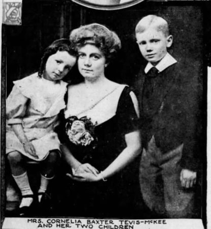 St Louis Post Dispatch, Sun, Mar 9, 1913 - Mrs. Cornelia Baxter Tevis McKee and 2 of her children
