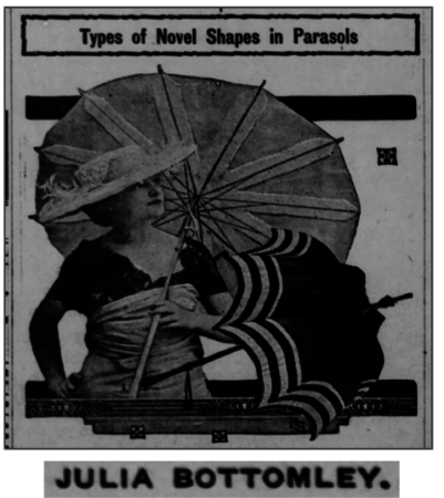 The Brook Reporter, Fri Jun 25, 1915 - article about parasols by Julia Bottomley