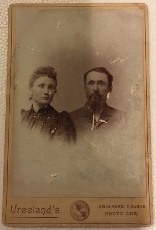 Undated Cabinet Card photo of man and woman by Vreeland's Rail-Road Palace Photo Car McIntyre-Culy Collection)