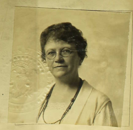 Anna O'Donnell Rodgers (passport photo, 1923)