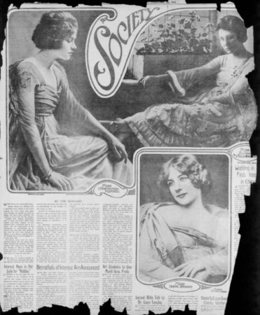 Examples of Mabel Sykes' photos for the Society Page, Chicago Examiner, Feb 27, 1916