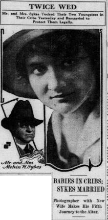 Melvin Sykes and the 4th Mrs. Sykes on the occasion of their 2nd wedding ceremony Chicago Tribune, April 18, 1916