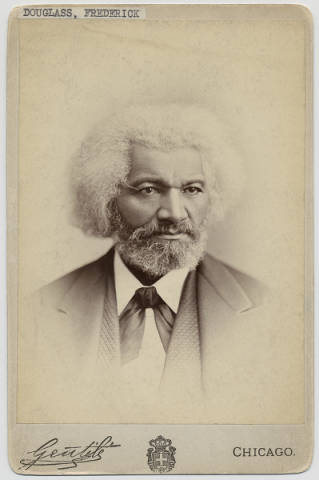 Photo fo Frederick Douglass by Lydia J. Cadwell, 1875 (Chicago History Museum, ICHi-10140)