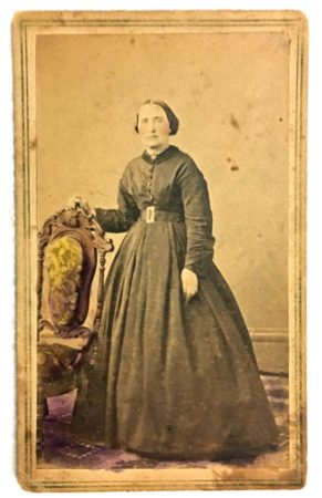 Hand-tinted CDV by Mrs. L.A. Hicks (Courtesy McIntyre-Culy Collection)