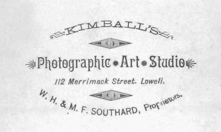Front - Carte d'visite by Kimball's Photographic Art Studio, W.H. & M.F. Southard, Proprietors)