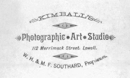 Front - Carte d'visite by Kimball's Photographic Art Studio, W.H. & M.F. Southard, Proprietors)