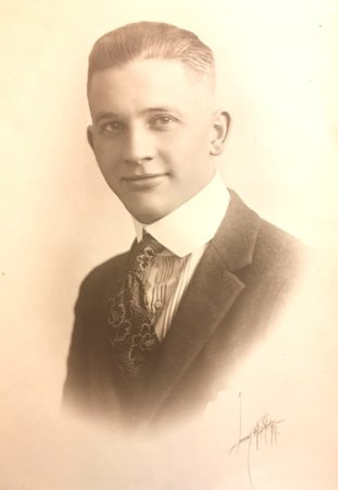 Libby Art Studio, 1917, photo of a young man (McIntyre-Culy Collecton)
