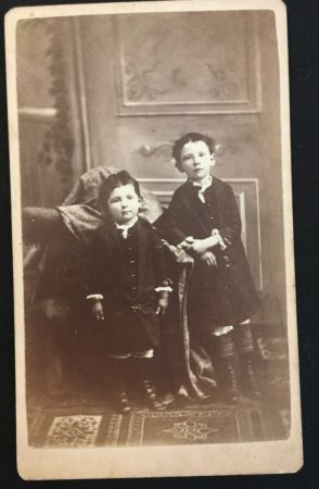 CDV with 2 kids by Mrs. M. Gainsford (McIntyre-Culy Collection)