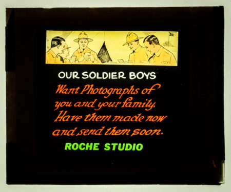 """Our Solider Boys"" ad - Roche Studio (courtesy Blue Rapids Historical Society)"