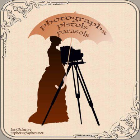 Photographs, Pistols & Parasols Logo
