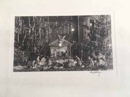 Nativity, signed photo by Eva B. Strayer (courtesy of the Huntington Public LIbrary)