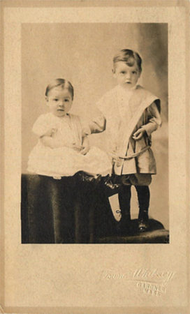 Towne & Whitney studio portrait of 2 children [McIntyre-Culy private collection]