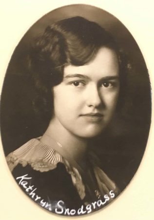 Yearbook photo of Kathryn Snodgrass, MCHS Class of 1929 (photo courtesy Marion County Historical Society)