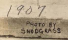 Detail: Snodgrass Studio stamp on the band photo